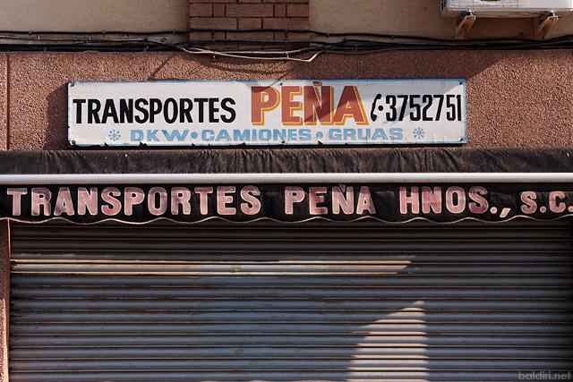 baldiri : transportes peña